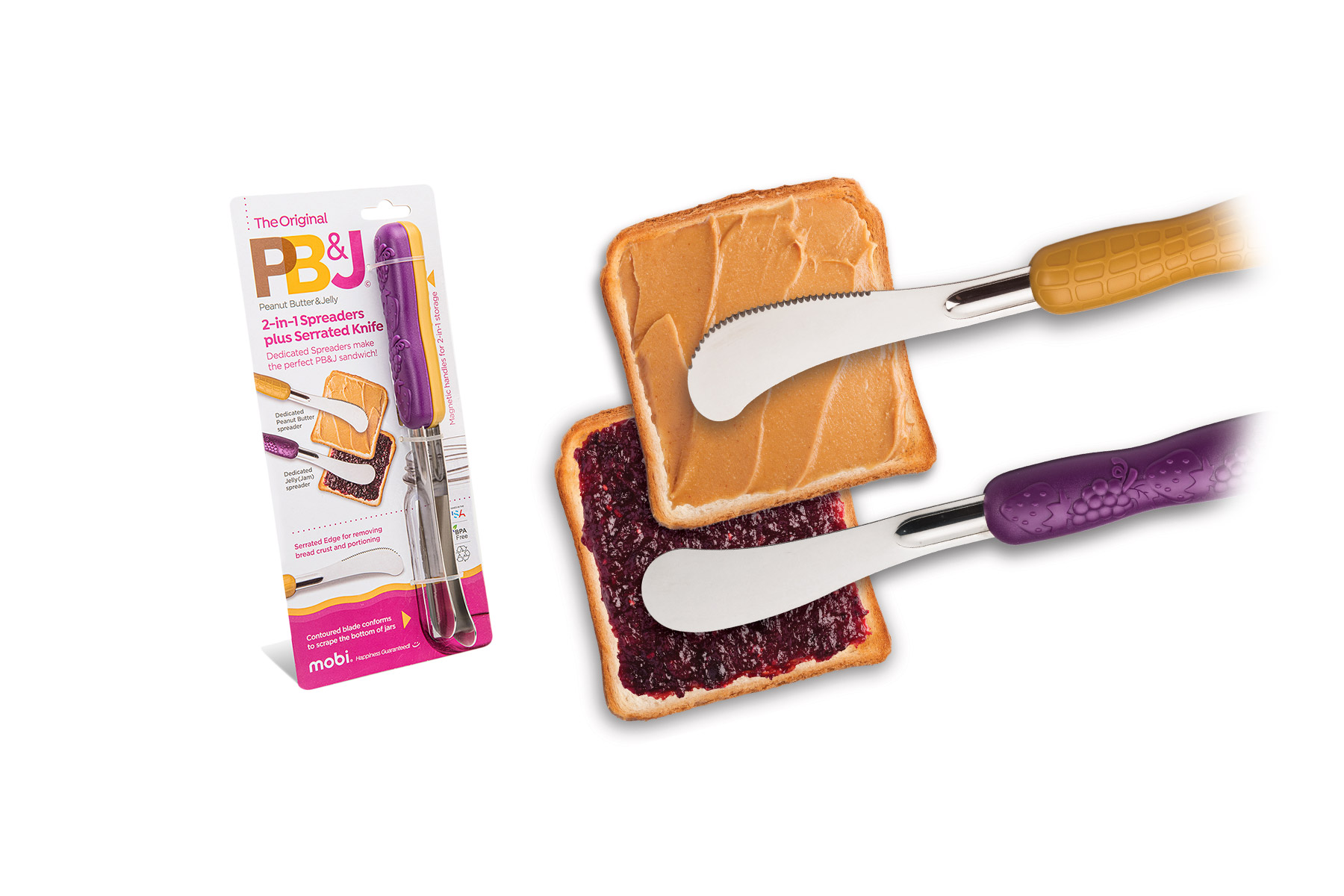 Peanut Butter & Jelly Spreaders